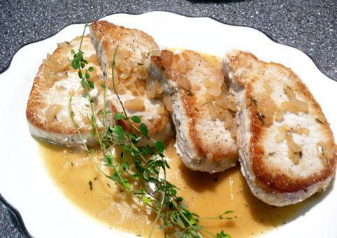 Pan Seared Pork Chops With Cidar Sauce