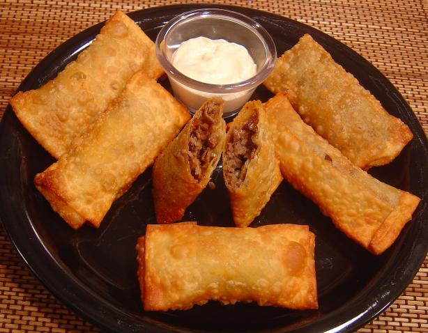 Easy Steak and Cheese Egg Rolls