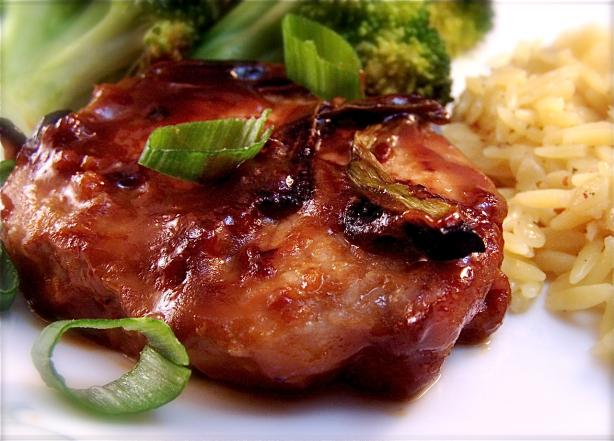 Honey Glazed Hoisin Pork Chops