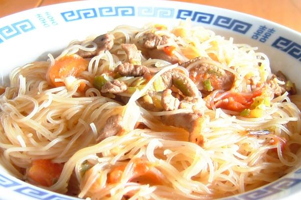 Cellophane Noodles With Pork & Tomato