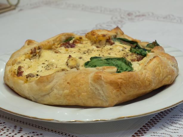 Feta and Spinach Free-Form Pie