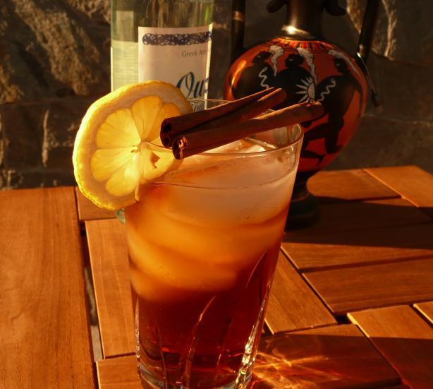 Cinnamon & Ouzo Iced Tea