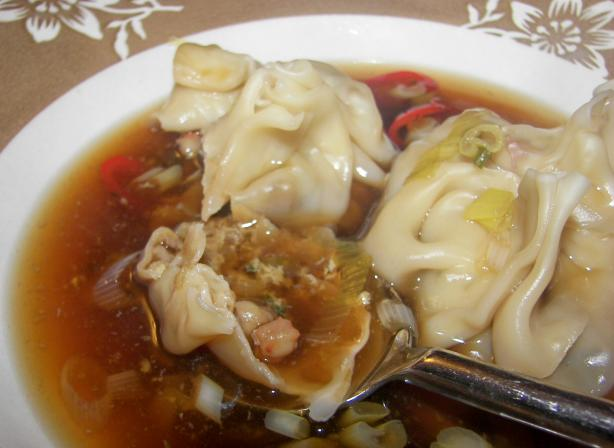 Chili-Spiced Shrimp Wonton Soup