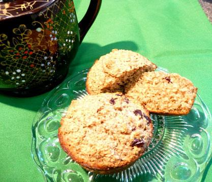 Healthy Oat Bran & Raisin Muffins