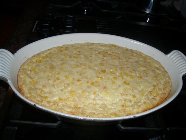 Savory Corn & Basil Pudding