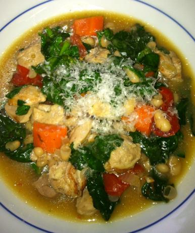 Tuscan Sun White Bean Chicken Soup #RSC
