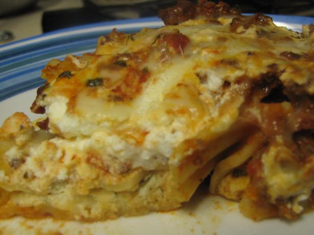 Cheese Stuffed Manicotti in Meat Sauce