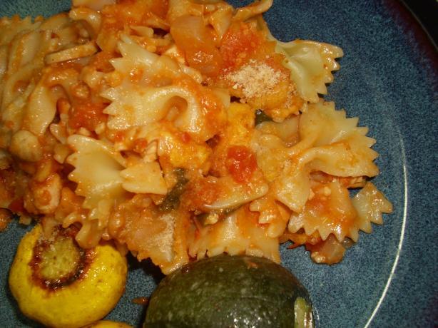 Scalloped Chicken and Spaghetti