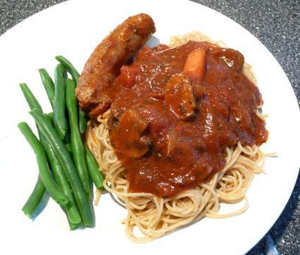 Mama's Spaghetti Sauce With Italian Sausage