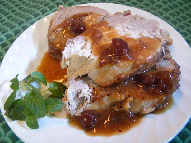 Crock Pot Cranberry Pork Roast and Gravy