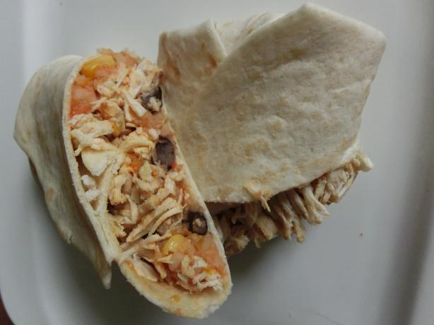 Restaurant-Style Light and Healthy Chicken Burrito