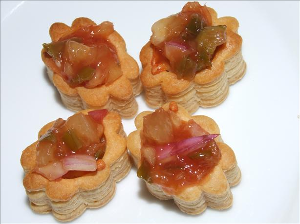 Chicken Vol-Au-Vents With Sweet and Sour Salsa