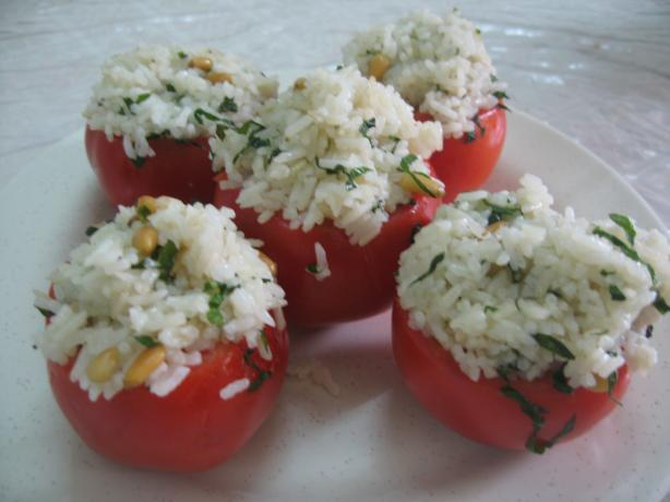Pine Nut Stuffed Basil Tomatoes
