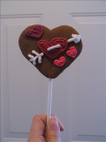 Gingerbread Lollipop Cookies