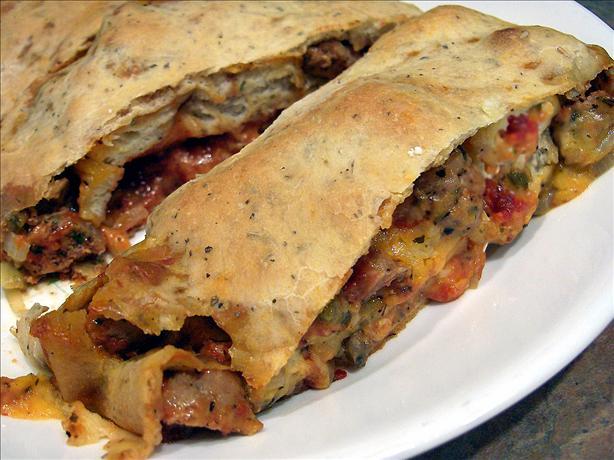 Italian Sausage Stromboli (Aka Sausage Bread)