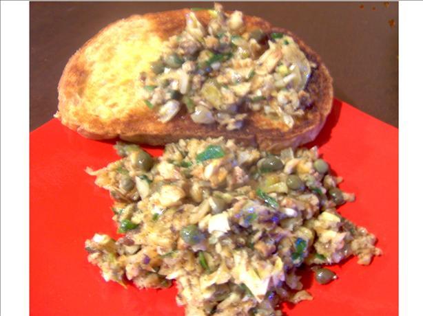 "Shiitake Mushroom and Caper ""caviar"""