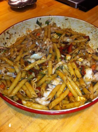 Mediterranean Cod With Tossed Penne Pasta