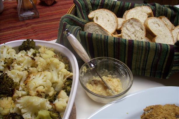 Roasted Cauliflower, Broccoli, and Garlic