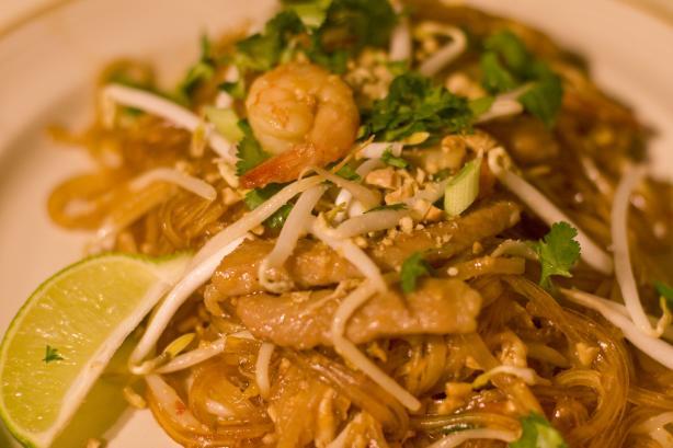 Your Pad or Mine? (Chicken & Shrimp Pad Thai)