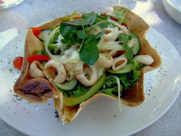 Salads in Tortilla Shells