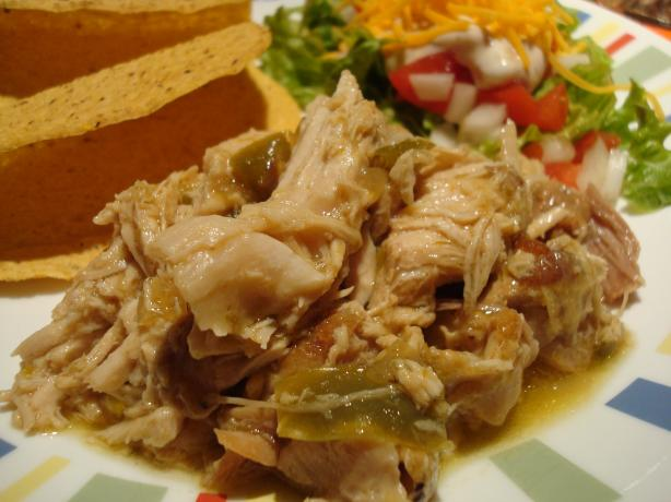 Chili Verde Pork in a Crock Pot