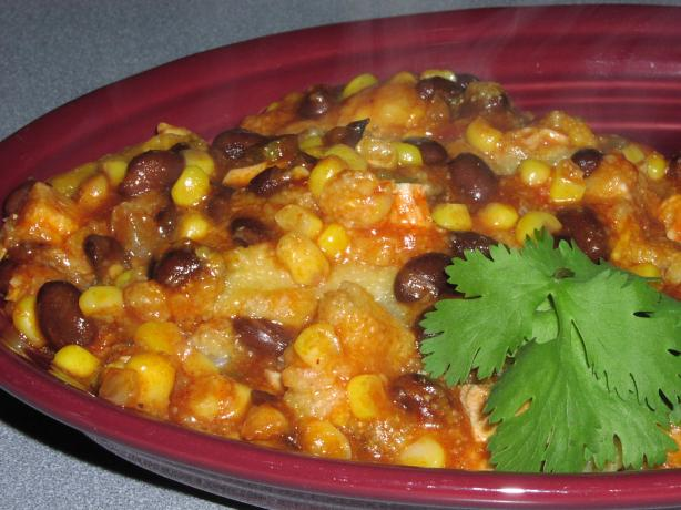 Ww Chicken , Black Bean, and Corn Enchilada Casserole