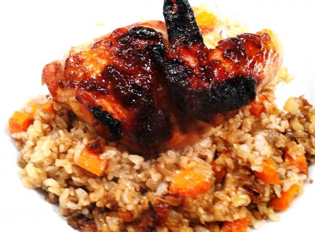 Crispy Chicken a L'Orange and Brown Rice