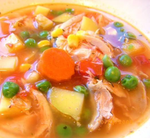 Eat-Your-Veggies Chicken Soup