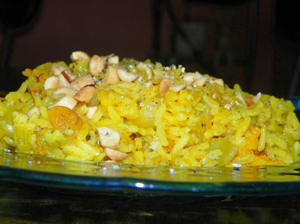 Ginger Apricot Rice With Peanuts