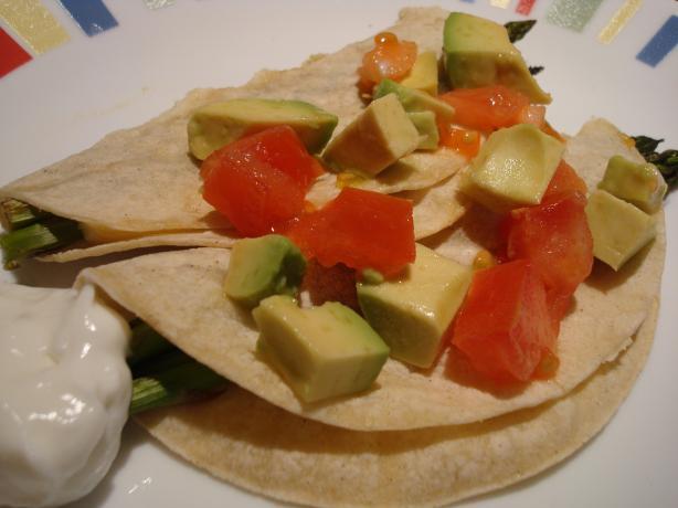 Asparagus Cheese Tacos