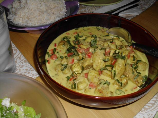 Thai Basil Chicken in Coconut-Curry Sauce