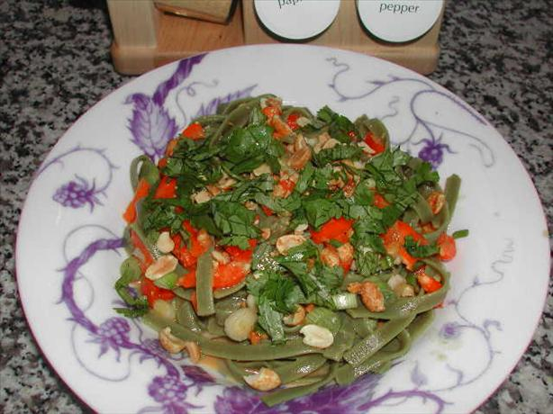 Noodle Salad With Spicy Peanut Butter Dressing