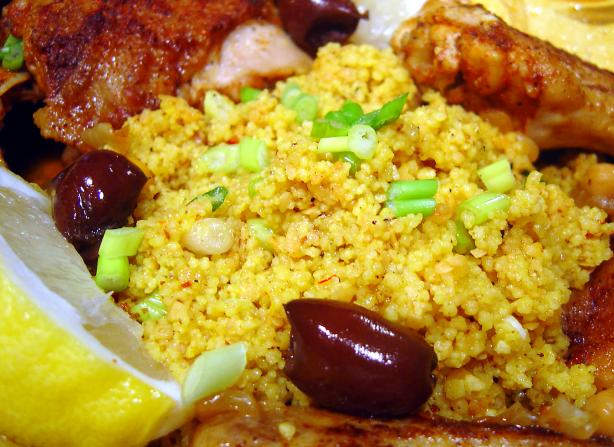 Saffron Scallion Couscous