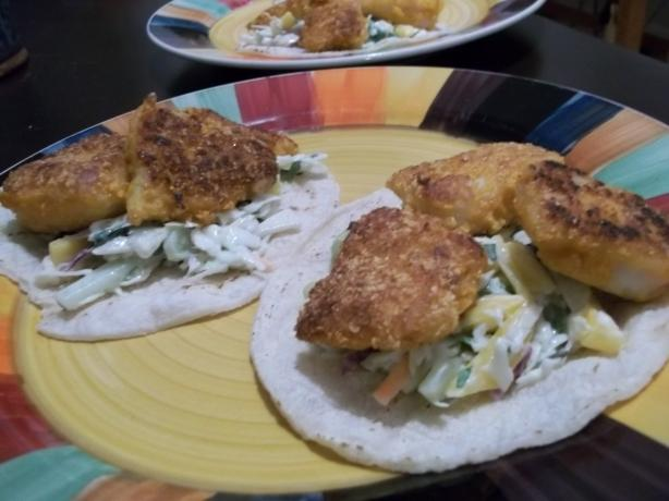 Cap'n Crunch Cod (Fish) Tacos by Food Dudes