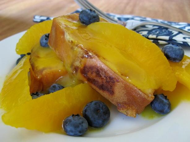 Fried Pound Cake With Orange Syrup
