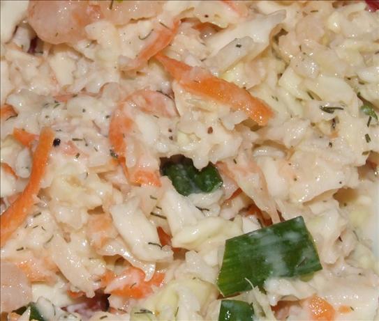 Low Fat Shrimp or Crab Coleslaw