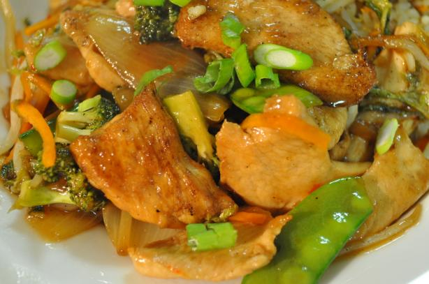 Ginger Plum Chicken Stir Fry