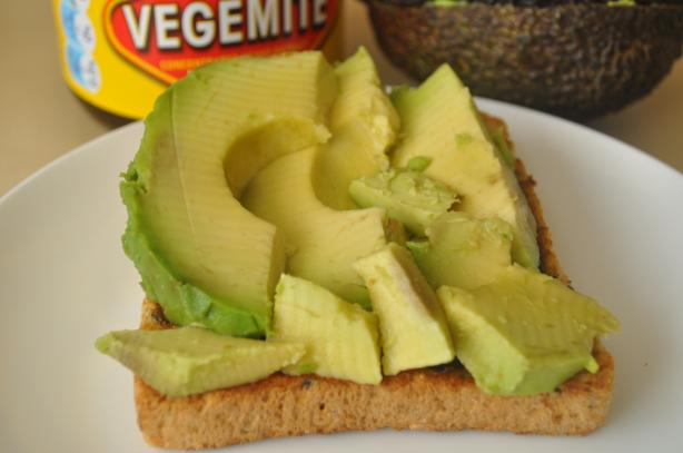 Avocado and Vegemite on Toast