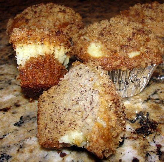 Banana Cream Cheese Muffins With Crumb Topping