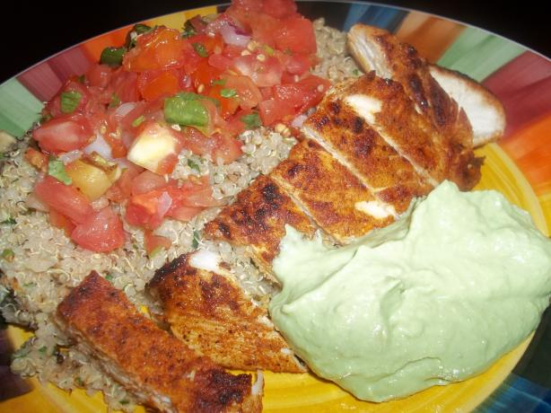 Blackened Chicken Breast With Cilantro LIme Quinoa