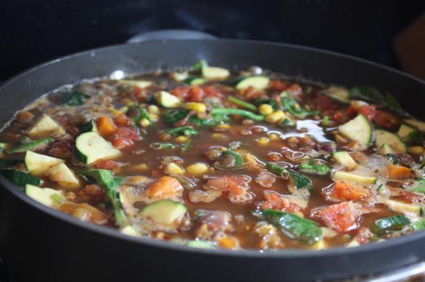 Southwestern Vegetarian Lentil Soup