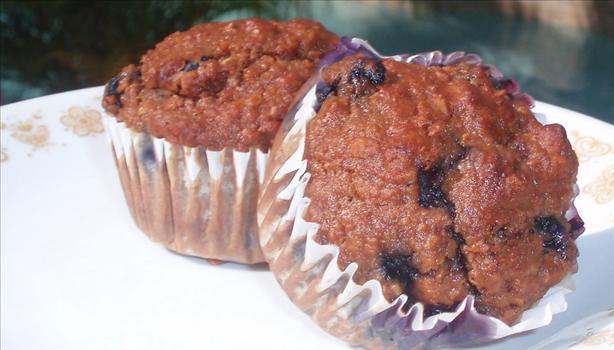 Blueberry-Walnut Wheat Germ Muffins