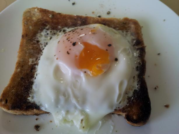 Microwave Poached Egg on Toast