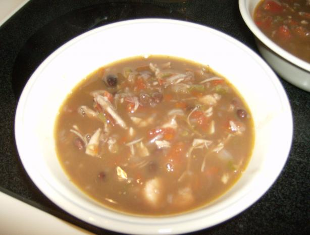 Southwest Chicken Black Bean Soup