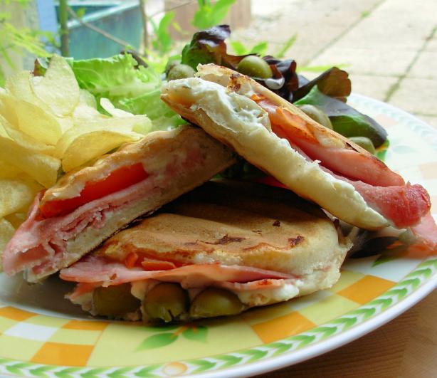 Toasted Provençal Panini (Sandwich)