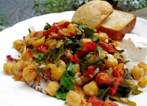 Chickpeas With Spinach (Greek)