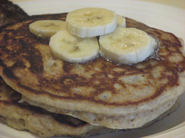 Whole Wheat, Oatmeal and Banana Pancakes
