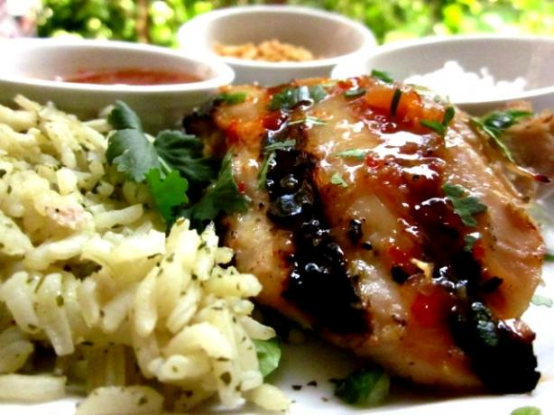 Thai Grilled Chicken With Honey-Chili Glaze
