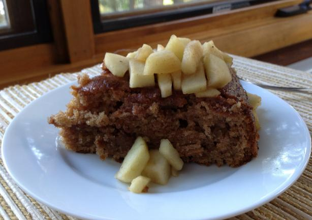 Buttery Cinnamon Cake W/Apple Compote