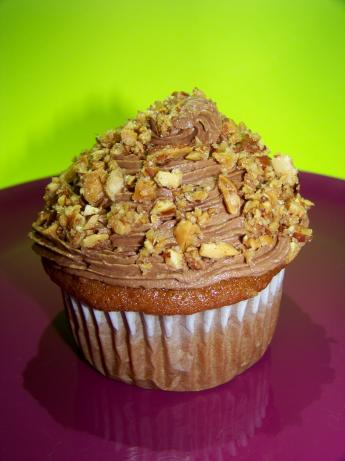Zucchini Almond Cupcakes W/ Dark Chocolate Frosting #RSC